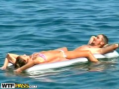 Couple Chilling At Nude Beach