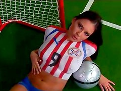 Sexy football player Veronica da Souza