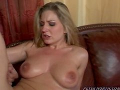 Amazing Avy Scott gives sloppy blowjob and gets fucked
