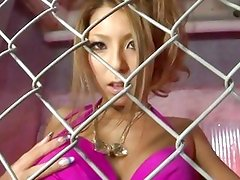 Caged babe escapes to fuck
