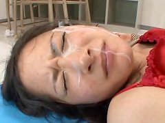 Sexy teacher Midori Mizuno gets fucked and facialed by her students