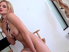 Appetizing blonde Liz with aristocratic pale