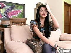 Gorgeous brunette Luchy is so sweet