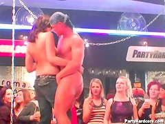 Stripper blown by party slut