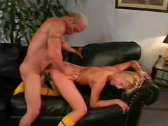 Skinny chick fucked in the hot pussy