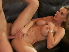 Fake titty milf seduces him for a good fuck