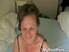 Mature first blowjob with young lover