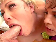 Young looking horny blonde and black