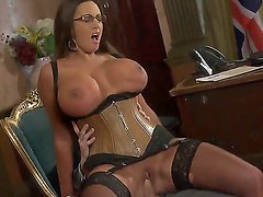 Curvy Emma Butt is allowing Prime Minister Danny D to drill her hot pussy on life television