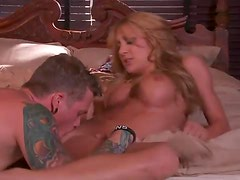 Making the sex aggressive with busty slut