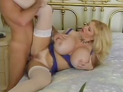 Massive tits chick in stockings pounded