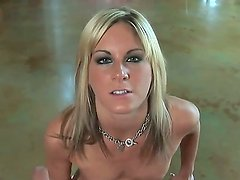 Blonde with big tits and tight pussy Courtney Simspon pleases guy with oral session