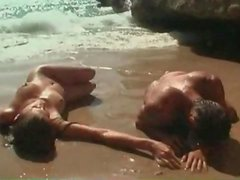 Cocksucking and cunt licking with beauty at beach