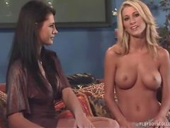Holly Black the pretty blonde babe gives an interview