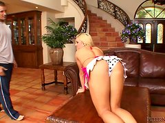 Cali Cassidy blows and enjoys hot sex in cowgirl position