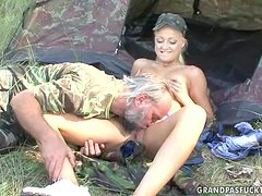 Dangerous border guard officers fucks that sexy Private Ksara
