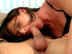 In sexy black stockings this milf hottie gets laid