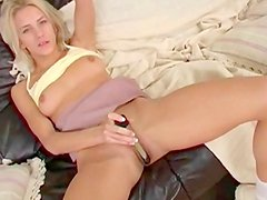 Blonde Lenka and nice dildo in her mouth