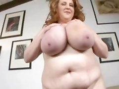 Mature chubby slut around oustanding chest mouth-fucking ebony cock