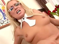 Diana Doll fucked in her pretty glasses
