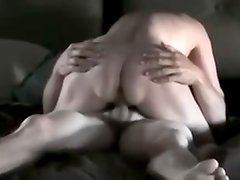 Hawt housewife enjoys riding on top of husban