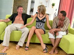 New Look for the Horny Bitch Aleska Diamond in DP Threesome