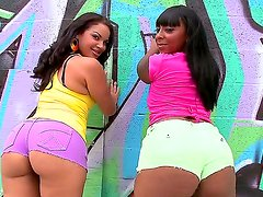 Two chocolate skinned babes Egypt and