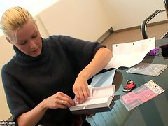 Sophie Moone makes presents to friends in the office