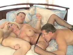 Grace Evangeline sucks a dick while getting her tight pussy fucked