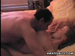 Amateur girlfriend blowjob and fuck with creampie cumshot