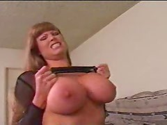 Old mom with huge jugs enjoys riding thick dick