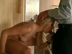 Cherry Kiss,Choky Ice,David Perry,Sabby and Steve Holmes in nasty orgy scene