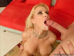 Busty MILF Holly gets fucked hard and cummed in her mouth