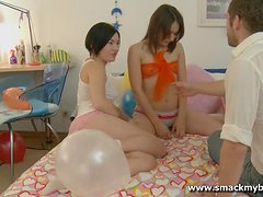 Sexy teen babes Jade and Stacy are getting fucked by this dude