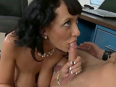 Horny Kris Slater gets to deep penetrate his horny teacher Alia Janine in her wet pussy