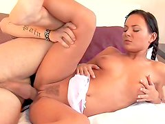 Creamyskinned beauty Nataly being banged in her mouth