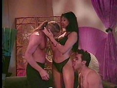 Busty Asian milf gets pleasured in scorching hot threesome