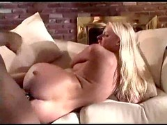 Black cock slowly fucks her white ass