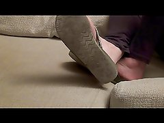 Oily couch wrinkles