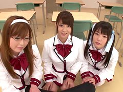 Horny AV Gal Students Share a Hard Dick in a Sexy Video