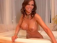 Sexy milf shows off her slender naked body