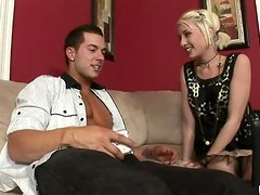 Skinny blonde Proxy Paige gets fucked by two bisexual dudes