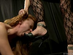 Busty and booty sweetie Alice gets punished hard