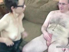 Sexually Concupiscent Shelly getting her bawdy cleft fucked by a geek