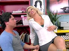 Awesome fair-haired female Brooke Haven has drilled