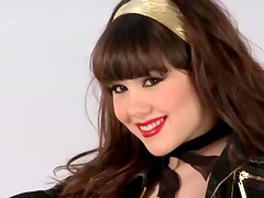 Claire Sinclair poses for the camera poses in different photo sets