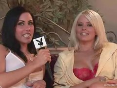 Amber Jay is giving a hot interview to playboy