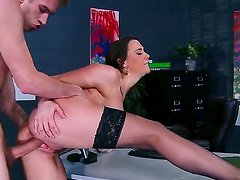 Boss Danny D fucking his stunning secretary Chanel Preston right at her workplace