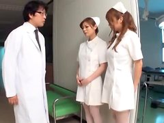 Sexy and Big Breasted Japanese Nurses Having a Threesome with the Doctor