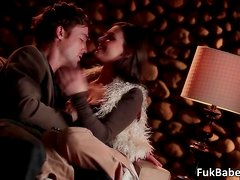 Amazing aroused couple Victoria Lawson and Richie having hoot and wet sex